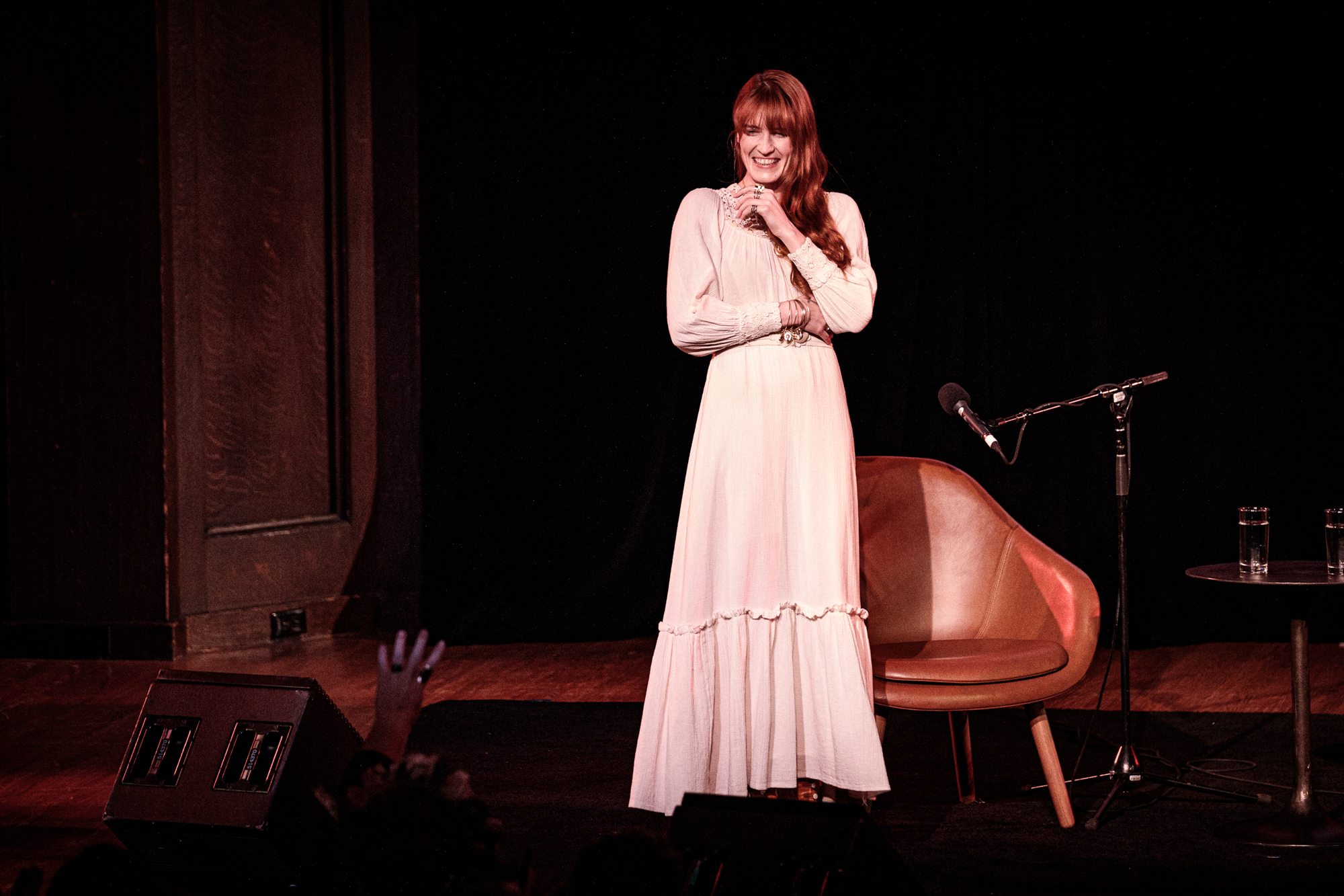 Florence Welch participating in a New Yorker Festival talk on October 11, 2019