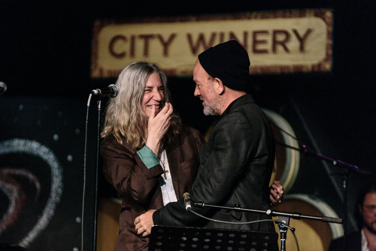 Patti Smith w/ Michael Stipe